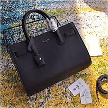 Cумка Classic Sac De Jour Ив Сен Лоран натуральная кожа  32 см, цвет черный