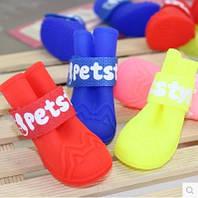 """Резиновые сапоги для собак """"Pet Style"""". Обувь для собак."""