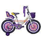 Детский велосипед Azimut Girls 18 дюймов фиолетовый, фото 3