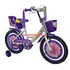 Детский велосипед Azimut Girls 18 дюймов фиолетовый, фото 4