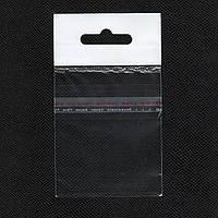 Пакет с еврослотом 7х6см +верхний к/л