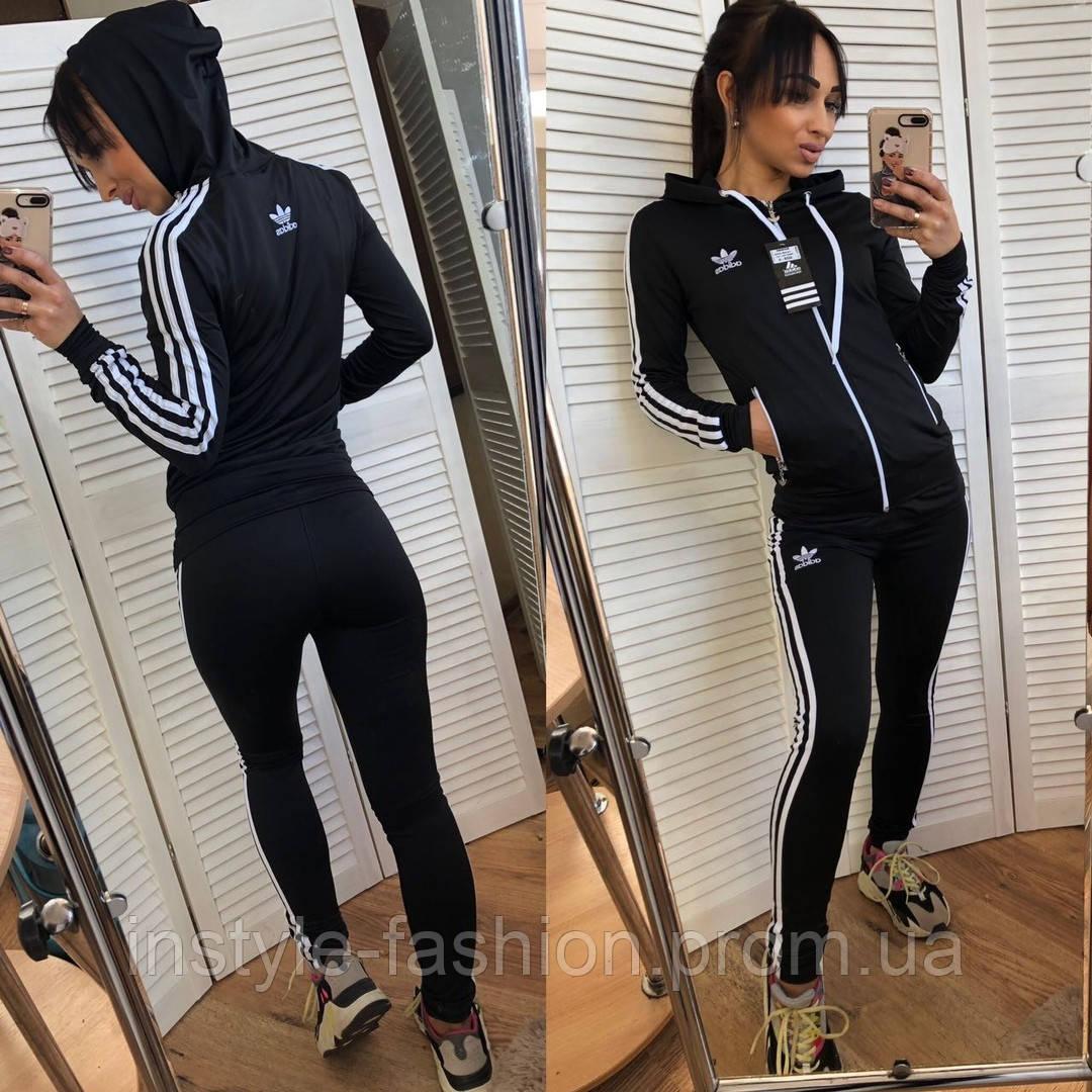1f6ff036 Женский спортивный костюм тройка Адидас Adidas Турция цвет черный, цена 1  160 грн., купить в Одессе — Prom.ua (ID#895218564)