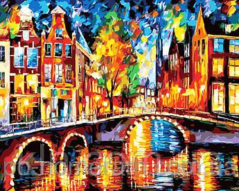 Картина за номерами Menglei Барвистий Амстердам MG1013 40 х 50 см 950 місто