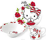 Набор детской посуды Hello Kitty (Хеллоу Китти) керамика