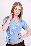 Летняя женская вязаная футболка в расцветках