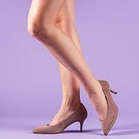 e3a808bf120cbc Женские туфли замшевые на маленьком каблуке-шпильке 6,5 см. Цвет любой под
