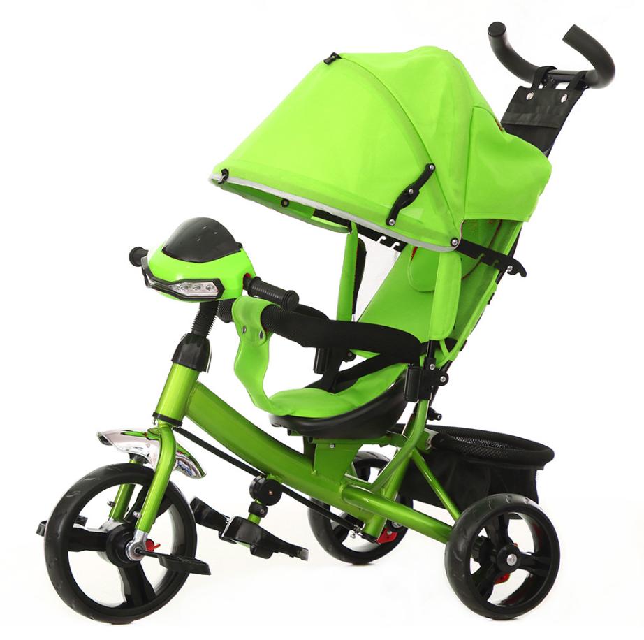 Велосипед трехколесный TILLY Trike на Ева колесах  T-347 Зелёный