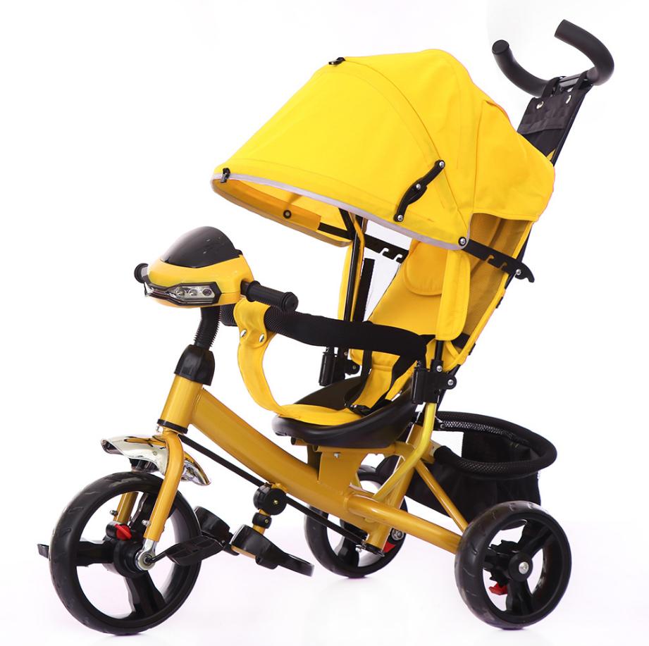 Велосипед трехколесный TILLY Trike на Ева колесах  T-347 Жёлтый