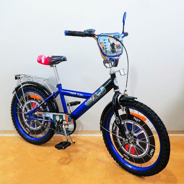 Велосипед двухколёсный детский 20 дюймов TILLY Поліцейський 20 T-220210 blue + black ***