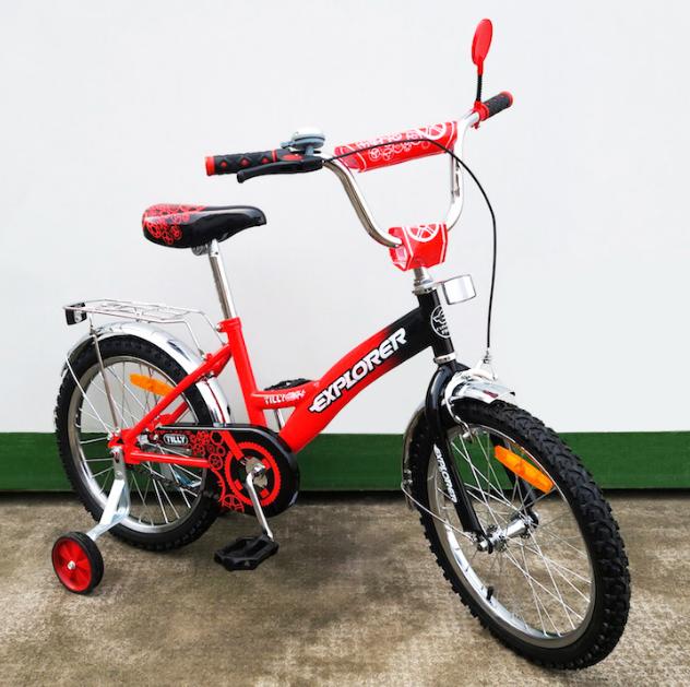 Велосипед двухколёсный детский 18 дюймов EXPLORER  T-21817 red + black ***