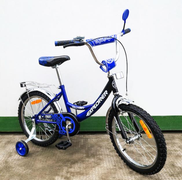 Велосипед двухколёсный детский 18 дюймов EXPLORER T-21815 blue + black***