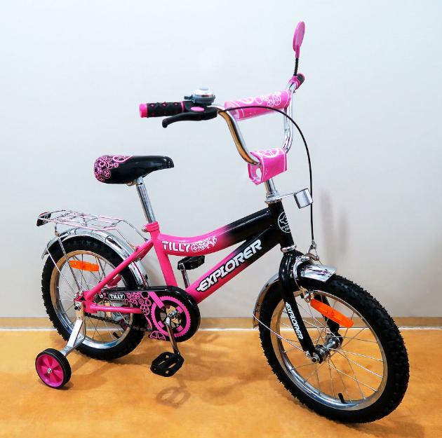 Велосипед двухколёсный детский 16 дюймов EXPLORER T-21617 crimson + black ***