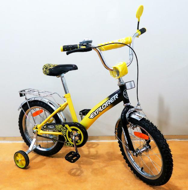 Велосипед двухколёсный детский 16 дюймов EXPLORER T-21618 yellow + black ***