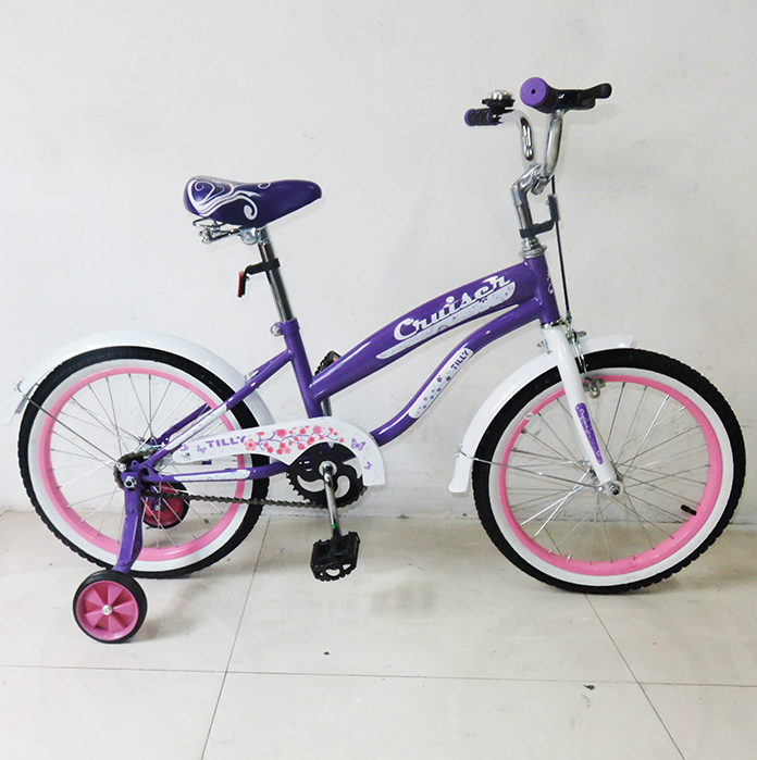 Велосипед детский двухколесный 18 дюймов CRUISER 18 T-21833 Purple+Pink  ***
