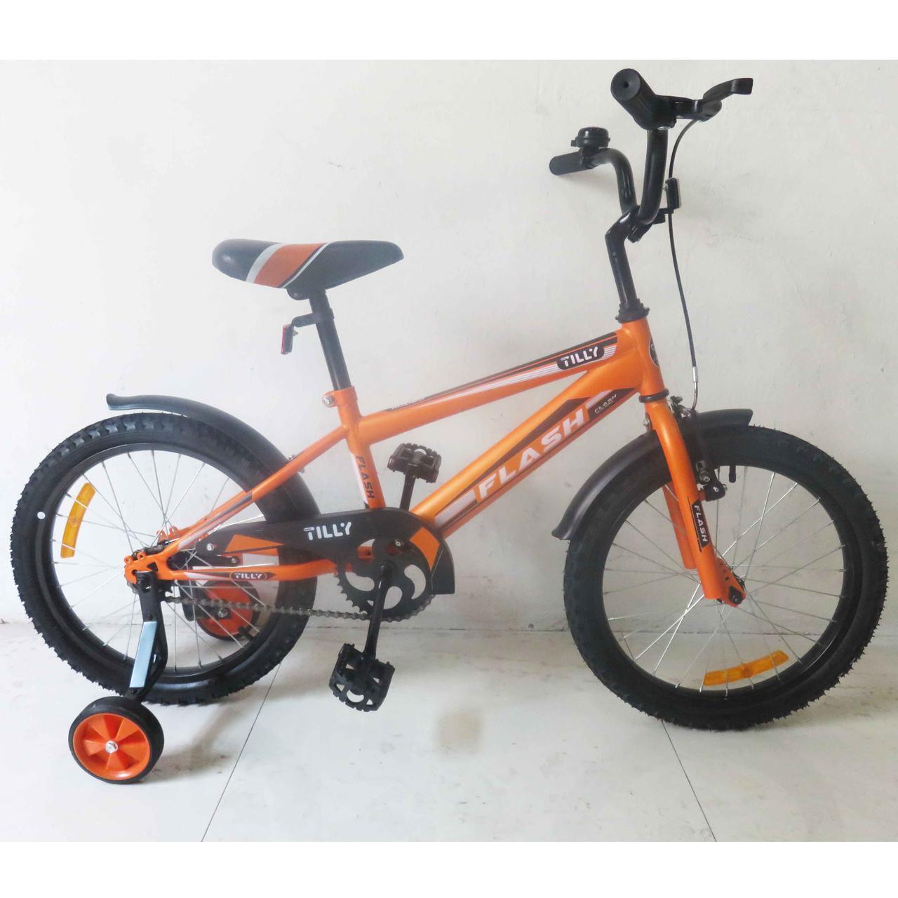 Велосипед детский двухколесный 18 дюймов FLASH  T-21844 orange