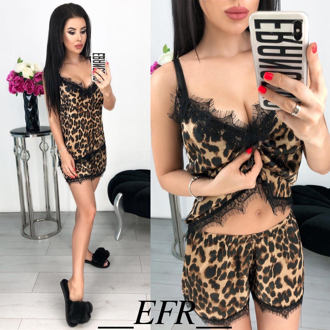 Женская леопардовая пижамка