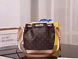 Женская сумка от Луи Витон модель Noe BB кожаная, Monogram, кожаная, фото 3