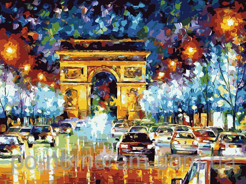 Картина по номерам Menglei Мгновения Парижа MG1018 40 х 50 см