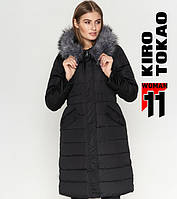 11 Киро Токао   Зимняя женская куртка 8606 черная