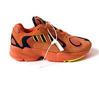 Женские кроссовки Adidas Yung 1 Оранжевые реплика