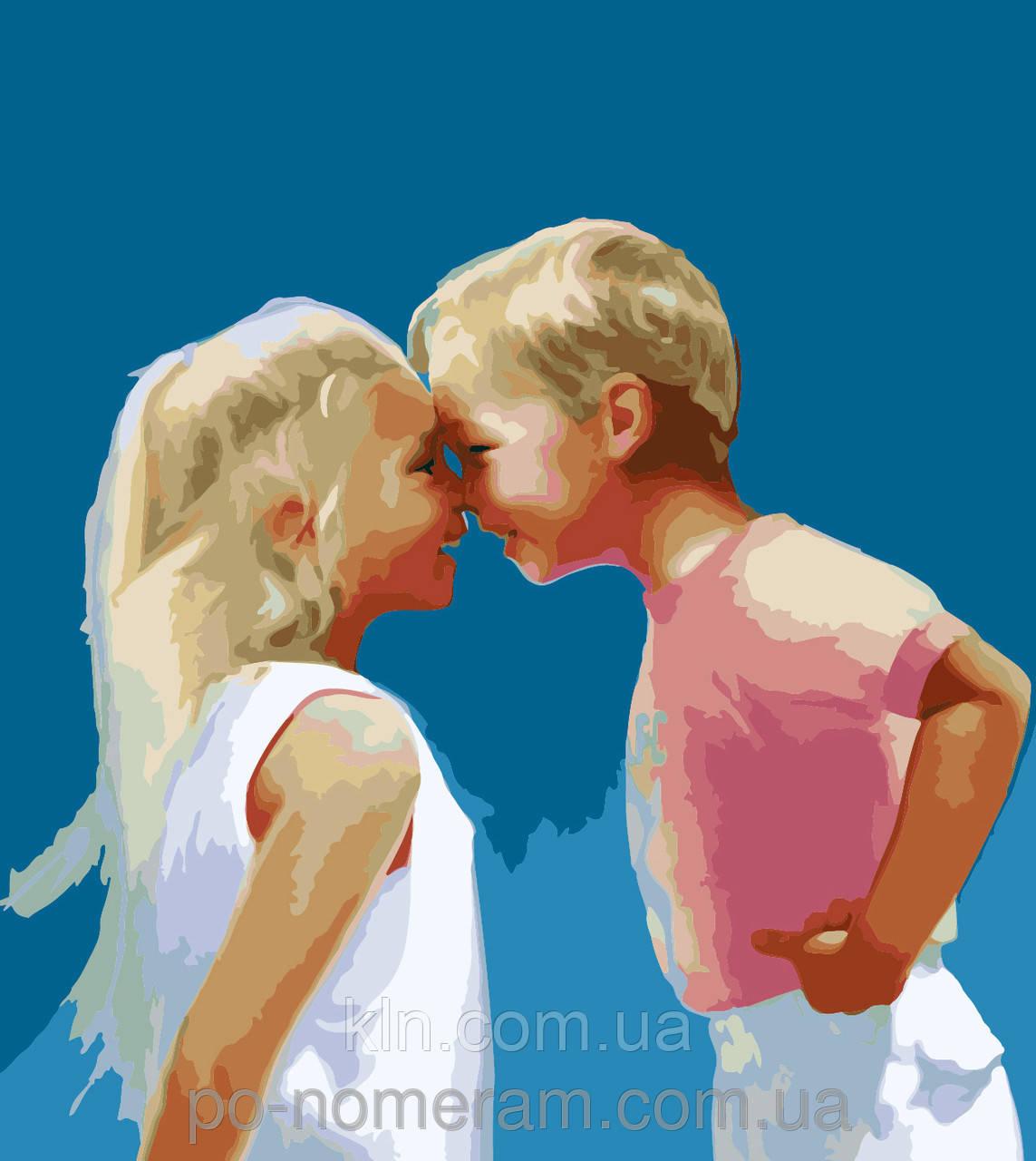 Картина по номерам Menglei Детская дружба MG1026 40 х 50 см
