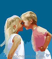 Картина по номерам Menglei Детская дружба MG1026 40 х 50 см, фото 1