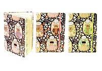 Блокнот на резинке,цветной срез, А6, 70г / м3, 96листов в клетку, кремовая бумага (абстракция)