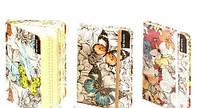 Блокнот на резинке,цветной срез, А6, 70г / м3, 96листов в клетку, кремовая бумага (цветы)
