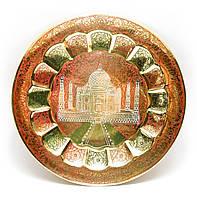 Тарелка бронзовая настенная 29 см