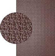Резина подметочная «резит» (Китай), р. 400*600*2.0 мм, рисунок «спорт», цв. коричневый