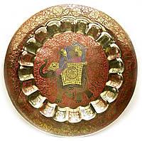 Тарелка бронзовая настенная 37 см
