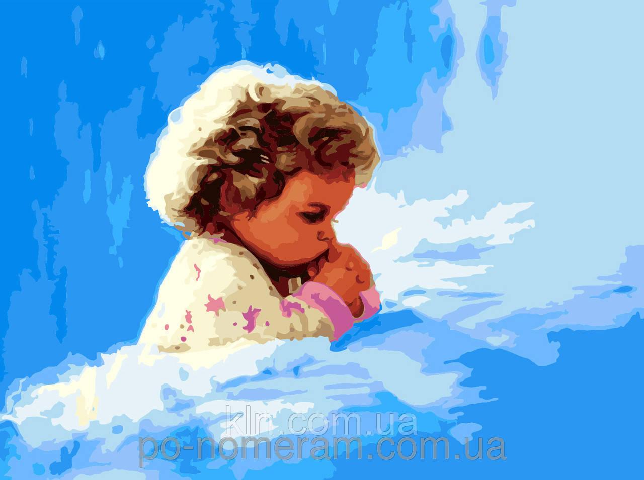 Картина за номерами Menglei Дитяча молитва MG1034 40 х 50 см
