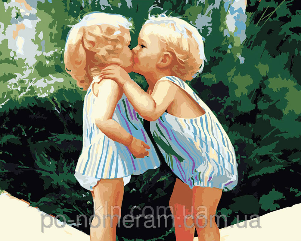 Картина по номерам Menglei Детская любовь MG1036 40 х 50 см