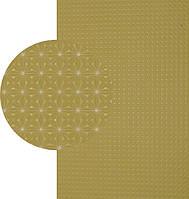 Резина подметочная «эластичка» (Китай), р. 400*600*2.0 мм, рисунок «конверт», цв. бежевый
