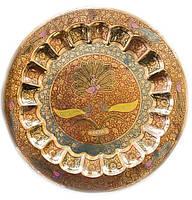 Тарелка бронзовая настенная 48 см