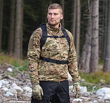 Тактическая флисовая куртка/ кофта Helikon-Tex® ALPHA TACTICAL fleece (camogrom), фото 2