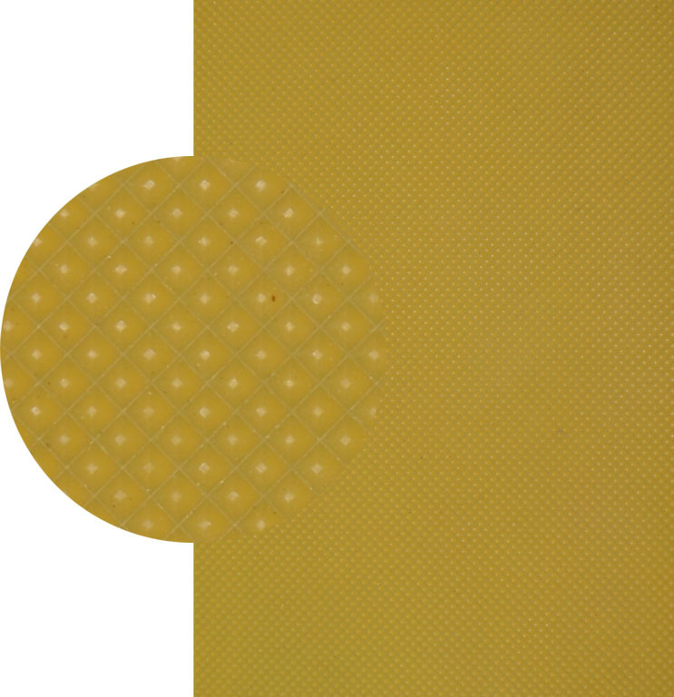 Резина подметочная «эластичка» (Китай), р. 400*600*2.0 мм, рисунок «пирамида», цв. бежевый