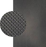 Резина подметочная «эластичка» (Китай), р. 400*600*2.0 мм, рисунок «пирамида», цв. черный