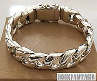 Серебряный мужской браслет панцирный панцирь панцирное плетение, фото 1