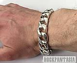 Серебряный мужской браслет панцирный панцирь панцирное плетение, фото 4