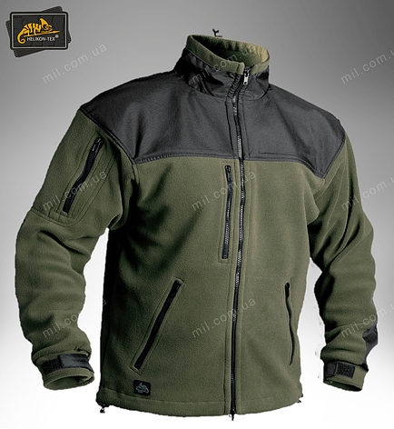 Тактична флісова куртка/ кофта Helikon-Tex® Classic Army (оливкова), фото 2