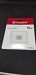 Карта памяти Transcend microSDHC 16GB Class 10 UHS-I 300S