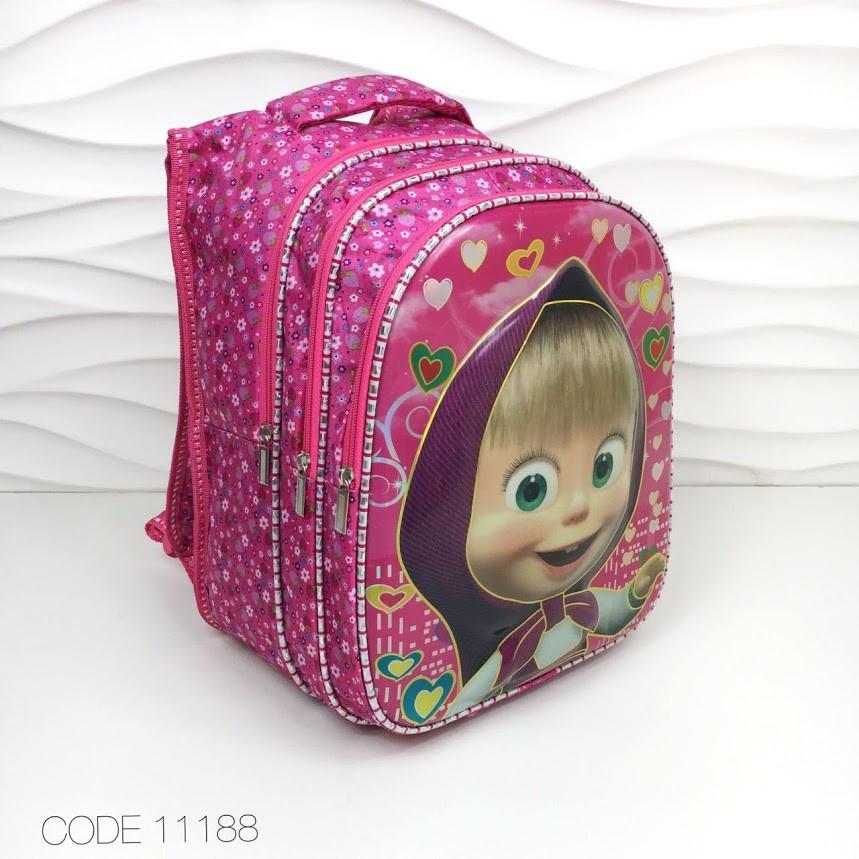 569b3b490dde Рюкзак школьный для девочки Маша и Медведь 3D, ранец для школы 11188 ...