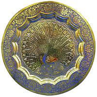 Тарелка бронзовая настенная 15 см