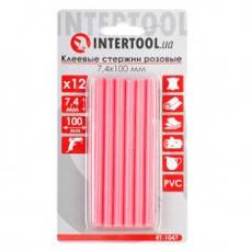 Комплект розовых клеевых стержней 7,4 мм х 100мм, 12 шт INTERTOOL RT-1047