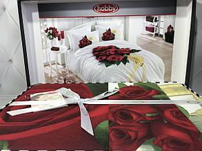 """Евро-комплект постельного белья Hobby Poplin. Турция """"Roses"""""""