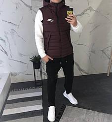 Мужская жилетка Nike бордовая