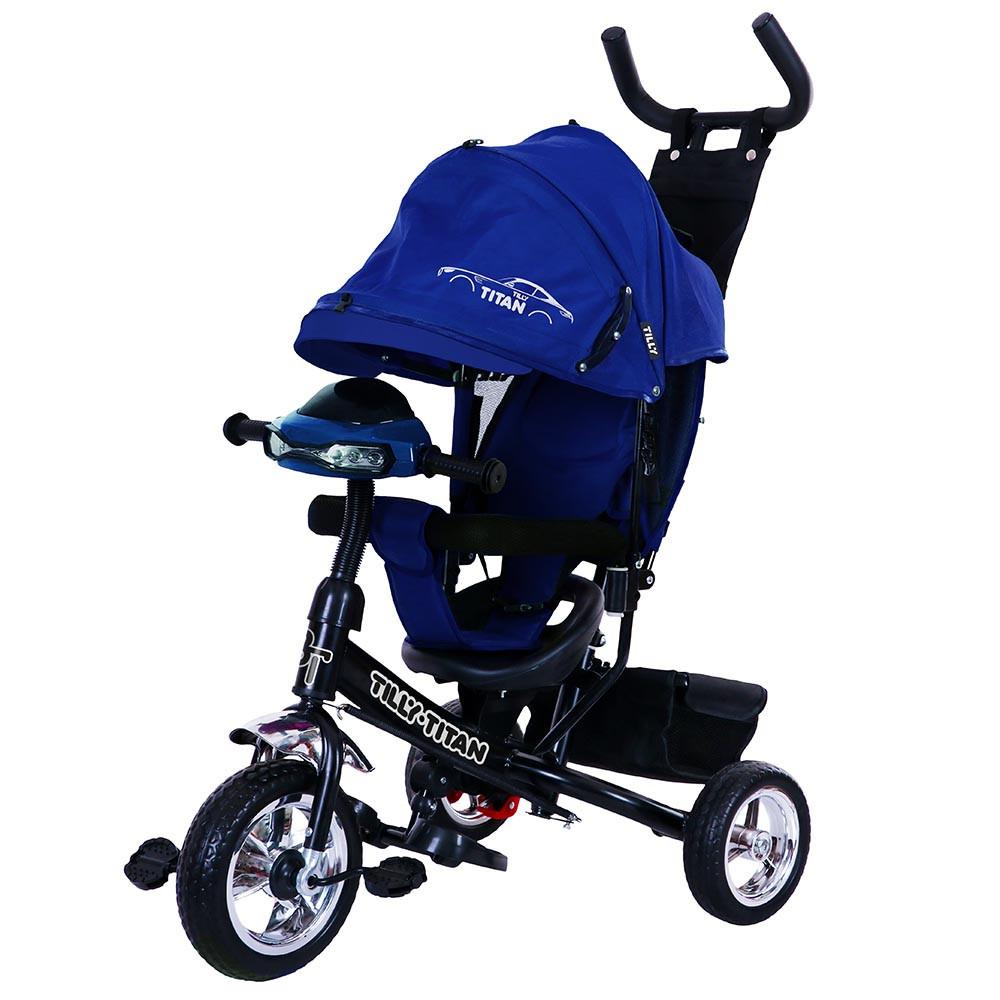Велосипед трехколесный EVA колеса TILLY TITAN T-348  синий