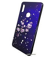 Чехол-накладка TPU+Glass чехол Fantasy с глянцевыми торцами для Xiaomi Redmi Note 5 Pro / Note 5 AI DC (Цветы)