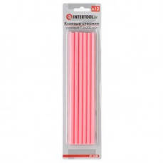 Комплект розовых клеевых стержней 7,4 мм х 200мм, 12 шт INTERTOOL RT-1048